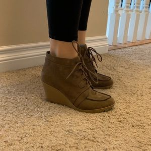 Maurices Shoes - Tan heeled booties